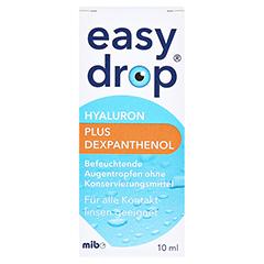 Easydrop Hyaluron + Dexpanthenol Augentropfen 10 Milliliter - Vorderseite