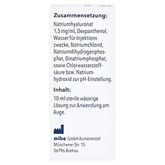 Easydrop Hyaluron + Dexpanthenol Augentropfen 10 Milliliter - Rückseite