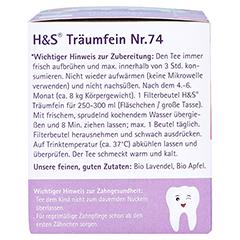 H&S Bio Baby- u.Kindertee Träumfein Filterbeutel 20x1.2 Gramm - Linke Seite