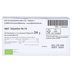 H&S Bio Baby- u.Kindertee Träumfein Filterbeutel 20x1.2 Gramm - Unterseite