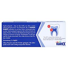 KAREX Kinder Zahnpasta 50 Milliliter - Rückseite
