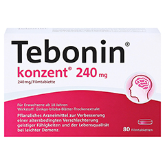 Tebonin konzent 240mg + gratis Tebonin Marco Polo Reiseführer 80 Stück - Vorderseite
