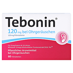 Tebonin 120mg bei Ohrgeräuschen + gratis Tebonin Marco Polo Reiseführer 60 Stück N2 - Vorderseite