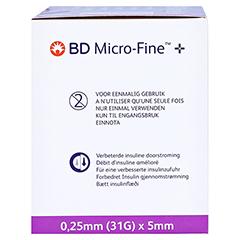 BD MICRO-FINE+ 5 Pen-Nadeln 0,25x5 mm 100 Stück - Rechte Seite