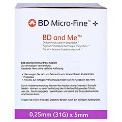 BD MICRO-FINE+ 5 Pen-Nadeln 0,25x5 mm 100 Stück - Linke Seite