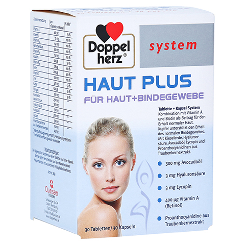 DOPPELHERZ Haut Plus system Tabletten+Kapseln 60 Stück
