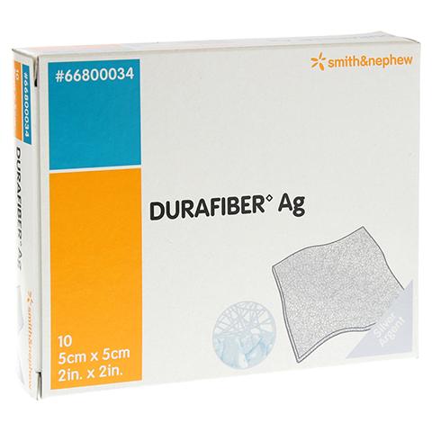 DURAFIBER Ag 5x5 cm Verband 10 Stück