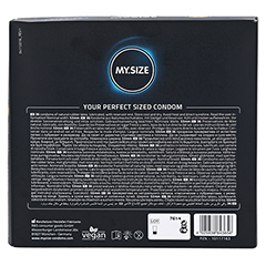 MYSIZE 53 Kondome 36 Stück - Rückseite