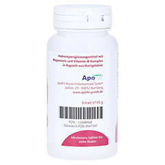 MAGNESIUM 375 mg+Vitamin B Komplex Kapseln 60 Stück - Linke Seite