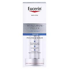 Eucerin Hyaluron-Filler Nachtpeeling & Serum + gratis Eucerin Dermatoclean Mizellen-Reinigung 100ml 30 Milliliter - Rückseite