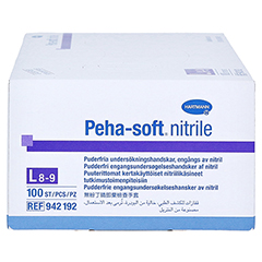 PEHA-SOFT nitrile Unt.Handsch.unste.puderfrei L 100 Stück - Linke Seite