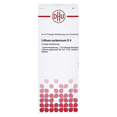 LITHIUM CARBONICUM D 4 Dilution 50 Milliliter N1 - Vorderseite