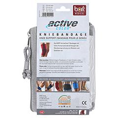 BORT ActiveColor Kniebandage M rot 1 Stück - Rückseite