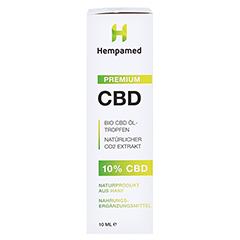 Hempamed Premium CBD-ÖL. 10% 10 Milliliter - Vorderseite
