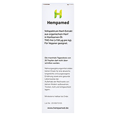 Hempamed Premium CBD-ÖL. 10% 10 Milliliter - Rechte Seite