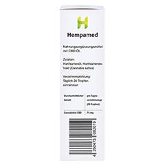Hempamed Premium CBD-ÖL. 10% 10 Milliliter - Rückseite