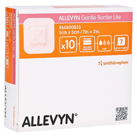 ALLEVYN Gentle Border Lite 5x5 cm Schaumverb. 10 Stück