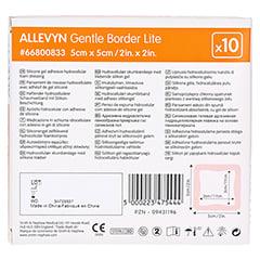 ALLEVYN Gentle Border Lite 5x5 cm Schaumverb. 10 Stück - Rückseite