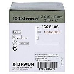 STERICAN Ins.Einm.Kan.27 Gx1/2 0,40x12 mm 100 Stück - Linke Seite