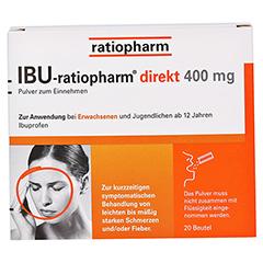 IBU-ratiopharm direkt 400mg 20 Stück - Vorderseite