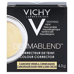 VICHY DERMABLEND Korrekturfarbe gelb Creme 4.5 Gramm - Rückseite