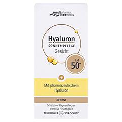 HYALURON SONNENPFLEGE Gesicht Creme LSF 50+ getönt 50 Milliliter - Vorderseite