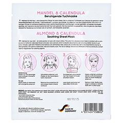 DR.SCHELLER Mandel&Calendula beruhigende Tuchmaske 16 Milliliter - Rückseite