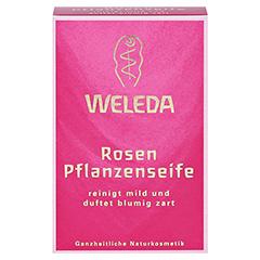 WELEDA Rosen Pflanzenseife 100 Gramm - Vorderseite