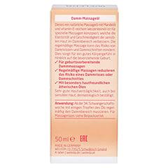 WELEDA Damm-Massageöl 50 Milliliter - Rückseite