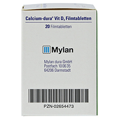 Calcium-dura Vit D3 20 Stück N1 - Rechte Seite