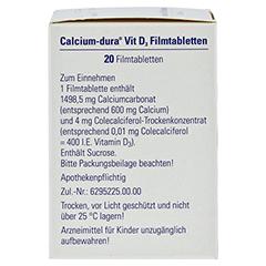 Calcium-dura Vit D3 20 Stück N1 - Linke Seite