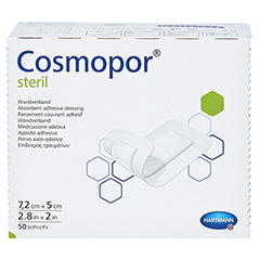 COSMOPOR steril Wundverband 5x7,2 cm CPC 50 Stück - Oberseite