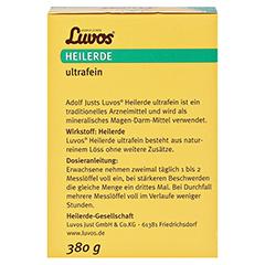 LUVOS Heilerde ultrafein 380 Gramm - Rückseite