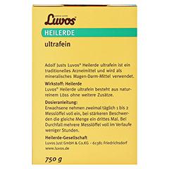 LUVOS Heilerde ultrafein 750 Gramm - Rückseite