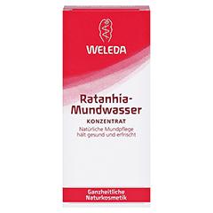 WELEDA Ratanhia Mundwasser 50 Milliliter - Vorderseite