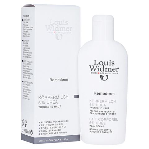 WIDMER Remederm Körpermilch 5% Urea leicht parf. 200 Milliliter