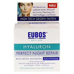 EUBOS HYALURON Perfect night Repair Creme 50 Milliliter - Vorderseite