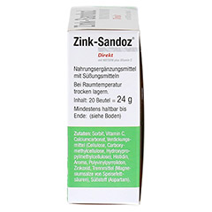 ZINK SANDOZ Direkt Beutel 20 Stück - Linke Seite