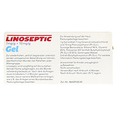 LINOSEPTIC Gel 30 Gramm - Rückseite