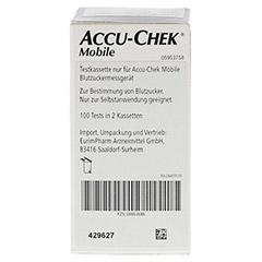 ACCU CHEK Mobile Testkassette Plasma II 100 Stück - Rückseite
