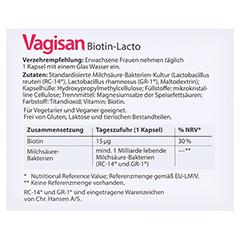 Vagisan Biotin-lacto Kapseln 30 Stück - Rückseite