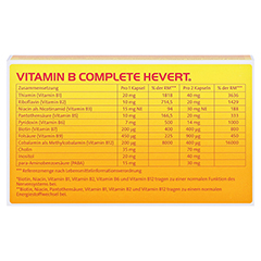 Vitamin B Complete Hevert Kapseln 60 Stück - Rückseite