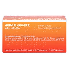 HEPAR HEVERT Lebertabletten 100 Stück N1 - Oberseite