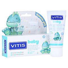 VITIS BABY Gel+Fingerzahnbürste Zahngel 30 Milliliter