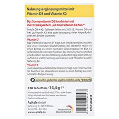 Vitamin D3+K2 2000 I.E. 120 Stück - Rückseite