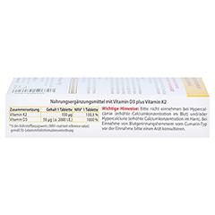 Vitamin D3+K2 2000 I.E. 120 Stück - Linke Seite