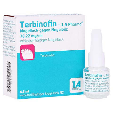Terbinafin-1A Pharma Nagellack gegen Nagelpilz 78,22mg/ml 6.6 Milliliter N2