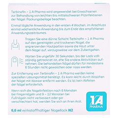 Terbinafin-1A Pharma Nagellack gegen Nagelpilz 78,22mg/ml 6.6 Milliliter N2 - Rückseite