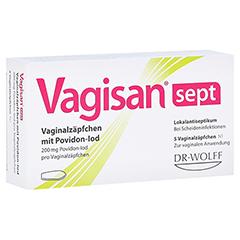 Vagisan sept Vaginalzäpfchen mit Povidon-Iod 5 Stück N1