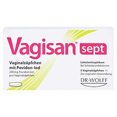 Vagisan sept Vaginalzäpfchen mit Povidon-Iod 5 Stück N1 - Vorderseite
